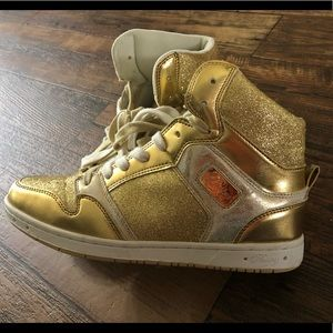 Shoes - Pastry Gold Bling High Tops Size 10